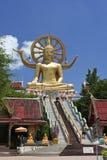 大菩萨寺庙ko samui泰国 库存照片