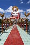 大菩萨寺庙ko samui泰国 库存图片
