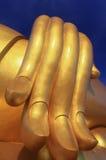大菩萨雕象的手 图库摄影