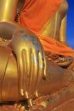 大菩萨雕象的手 免版税库存照片