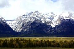 大蒂顿国家公园风景看法在杰克逊,怀俄明 免版税库存照片