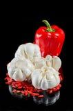 Garlick和狂放的玫瑰色种子 免版税库存图片