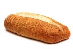 大蒜和草本工匠白面包 库存图片