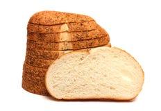 大蒜和草本工匠白面包 图库摄影