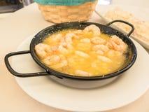 大蒜大虾,安达卢西亚,西班牙 图库摄影