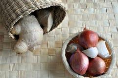 大蒜姜葱 库存图片