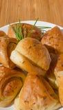 大蒜小圆面包 库存图片