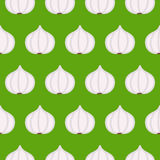 大蒜无缝的样式 免版税库存图片