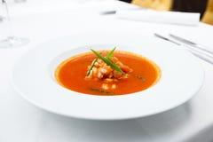 大蒜汤用大虾 库存图片
