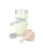 大蒜用牛奶和米 免版税库存图片