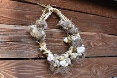 大蒜的花圈 库存照片