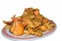 大蒜龙虾中国式 免版税库存照片