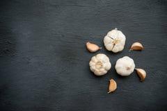 大蒜,晒干的香料 免版税图库摄影