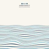 大蓝色条纹线波浪样式backgroun的颜色水平 向量例证