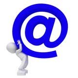 大蓝色电子邮件 库存图片