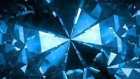 大蓝色转动的宝石 向量例证