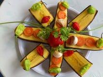 大蕉香蕉和厨房艺术 库存图片