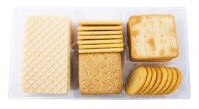 大薄脆饼干另外装箱 免版税图库摄影