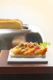 大虾三明治 免版税图库摄影