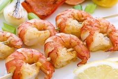 大虾串 库存图片