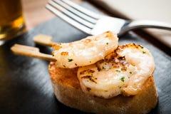 大虾开胃菜 免版税图库摄影