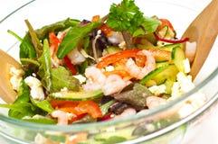 大虾沙拉 免版税库存图片