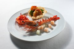 大虾沙拉 库存图片