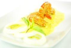 大虾用椰子小汤II 免版税库存照片