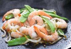 大虾蔬菜 免版税库存照片