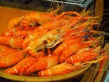 大虾-煮熟的大虾 免版税库存照片