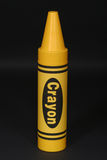 大蜡笔黄色 免版税库存图片