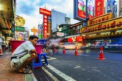 大街在唐人街曼谷 图库摄影