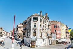 大街在威尼斯,意大利 库存图片
