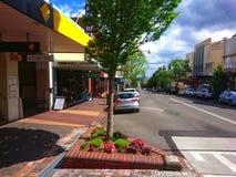 大街Katoomba蓝山山脉澳大利亚 免版税库存照片