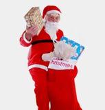 大袋圣诞老人 图库摄影