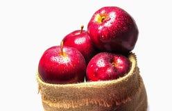 大袋苹果 免版税库存图片