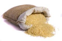 大袋黄色米 库存图片