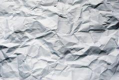 大被弄皱的纸张 库存图片