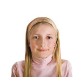 大被注视的女孩微笑 免版税库存图片