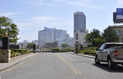 大西洋华园大饭店&赌博娱乐场大西洋城手段的从新泽西美国 库存图片
