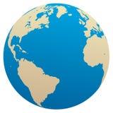 大西洋地球海洋向量 免版税库存照片