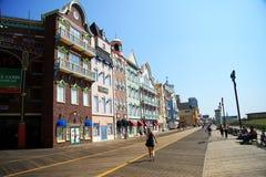 大西洋城五颜六色的房子 免版税库存照片
