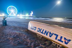 大西洋城,新泽西,美国 09-04-17 :大西洋城木板走道 免版税库存照片