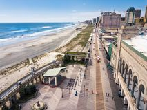 大西洋城,美国- 2017年9月20日:大西洋城木板走道 免版税库存照片