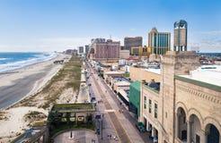 大西洋城,美国- 2017年9月20日:大西洋城木板走道 图库摄影