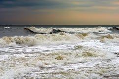 大西洋多暴风雨的天气 免版税图库摄影