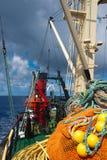 大西洋小船捕鱼海洋 免版税库存照片