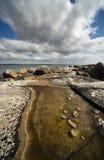 大西洋岩石岸 免版税库存图片