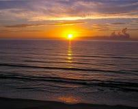 大西洋日出,墨尔本,佛罗里达海岸 免版税库存图片