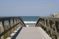 大西洋木板走道海洋 免版税图库摄影
